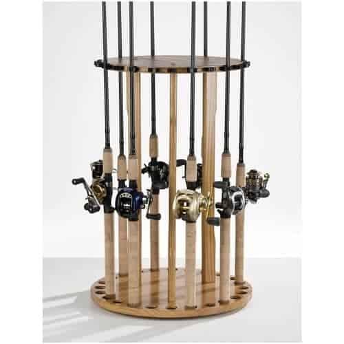 Vertical fishing rod holder