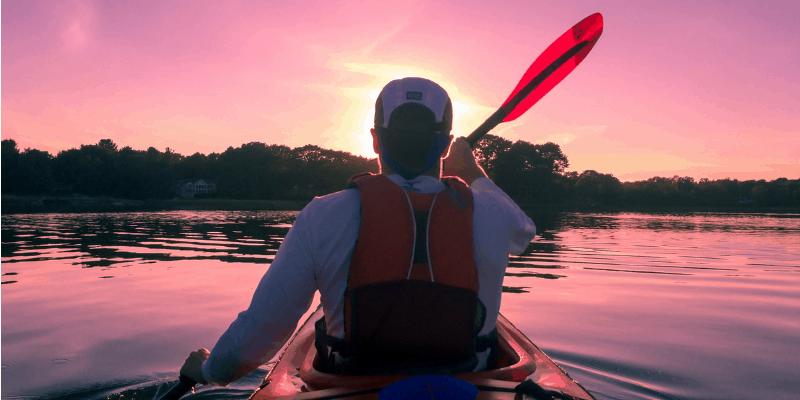 kayak fishing on rivers and lakes