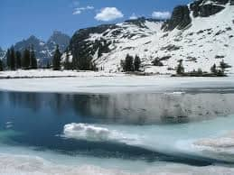 lake in the winter